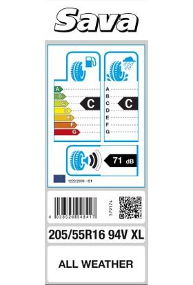 Sava 205/55R16 94V XL All Weather Binek 4 Mevsim Lastiği ( Üretim Yılı: 2021 )