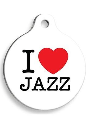 Pet Tag Art Jazz Yuvarlak Kedi ve Köpek Künyesi Small 2,5 cm