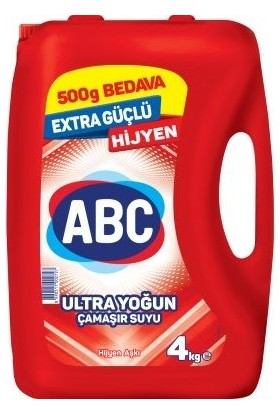 Abc Ultra Çamaşır Suyu Hijyen Aşkı 3500 Lt