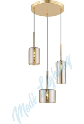 Modi Lighting Gold Bal Camlı 3'lü Sarkıt Avize MOD-AV-4443-3GB