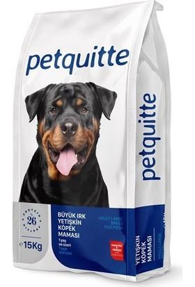 Petquitte Kuzulu Büyük Irk Yetişkin Köpek Maması 15 kg