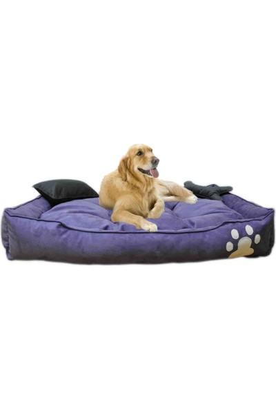 Mavi Vitrin Elite Yıkanabilir Ultra Soft Köpek Yatağı