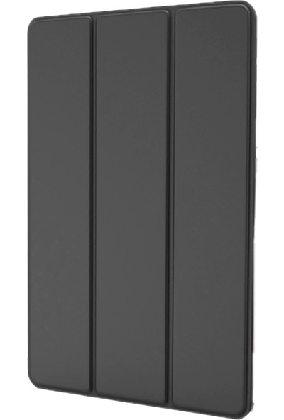 Redpoloshop Samsung Galaxy Tab A7 10.4 T500 T505 Kılıf Kalem Koymalı Smart Temperli Cam Koruma Dahil Siyah