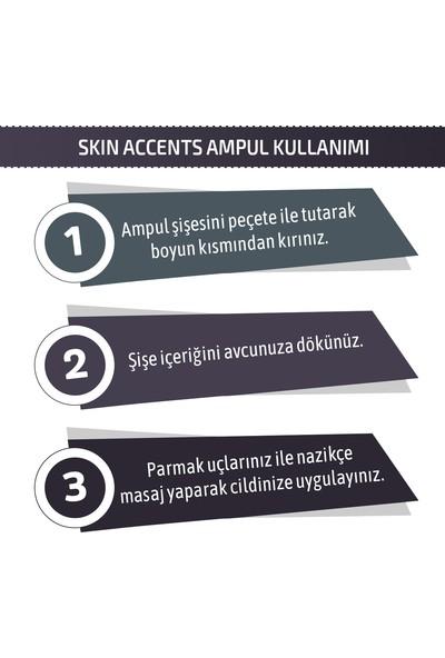 Skin Accents Hızlı Parlatma ve Germe Ampul Instant Glow & Lift Complex Cilt Serumu 3 Adet Dermaroller Dermapen Serum