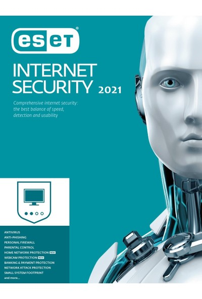 Eset NOD32 & Internet Security 2021 1-3-5-10 Pc Dijital Lisans (Resmi Bayi)