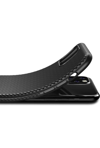 Case Markt Xiaomi Redmi Note 9s Karbon Fiber Desenli Ultra Ince Silikon Telefon Kılıfı
