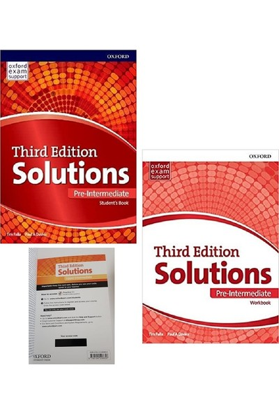 Oxford University Press Solutions Pre-Intermediate Student's Book + Workbook With Online Practice Kit