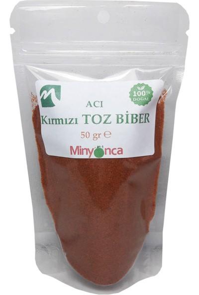 Minyonca Doğal Kırmızı Toz Biber (Acı) 50 gr