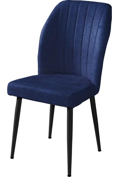 Woodlabs Kare Gold Metal Ayaklı Sandalye Siyah-Cafe Mutfak Otel Bekleme Salonu
