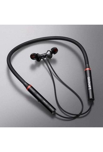 Lenovo HE05X Manyetik Neckband Kablosuz Bluetooth 5.0 Kulaklık Siyah