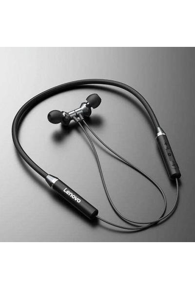 Lenovo QE08 Manyetik Neckband Kablosuz Bluetooth 5.0 Kulaklık Siyah