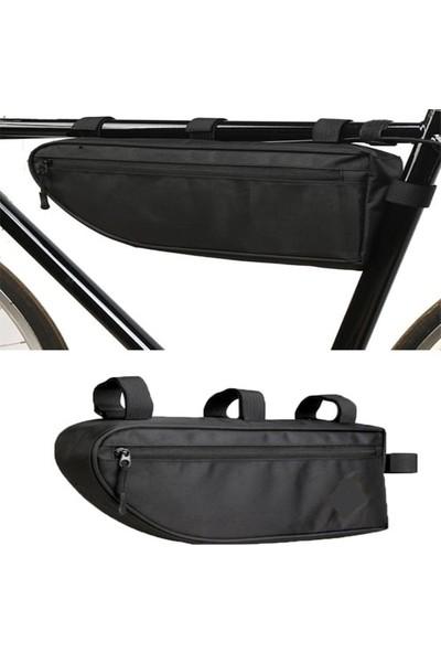 Carneil 6 Litre Pole Bisiklet Kadro Çanta Su Geçirmez Alüminyum Folyo Hazneli Seyahat Çantası