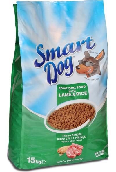 Smart Dog Kuzu Pirinç Yetişkin Köpek Maması 15 kg