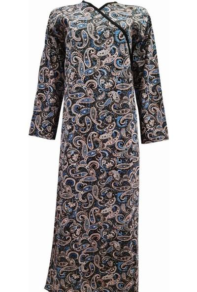 Hazal Namaz Elbisesi Şal Desen Bağlamalı Model