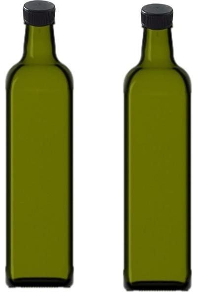 Şişecam Kendinden Renkli Yeşil Cam Yağlık 2 Li 500CC.