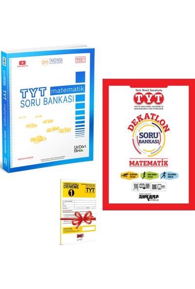 345 TYT Matematik Soru Bankası ve Ankara TYT Matematik Dekatlon Soru Bankası Seti + Deneme