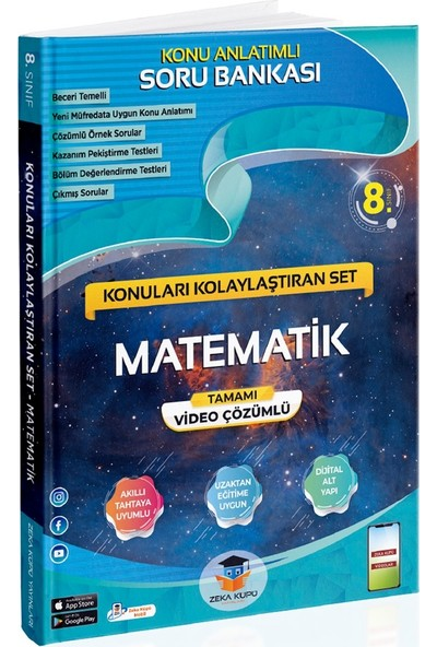 Zeka Küpü Yayınları 8. Sınıf Matematik Konuları Kolaylaştıran