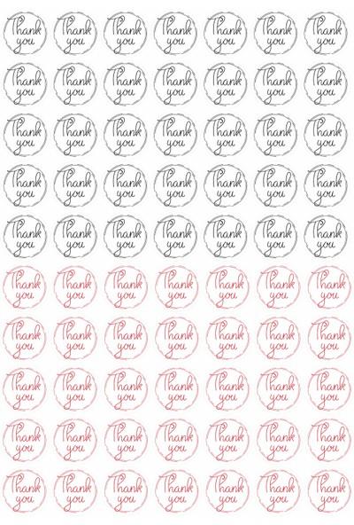 Hep En Uygun 70 Adet Thank You Şeffaf Sticker - Etiket