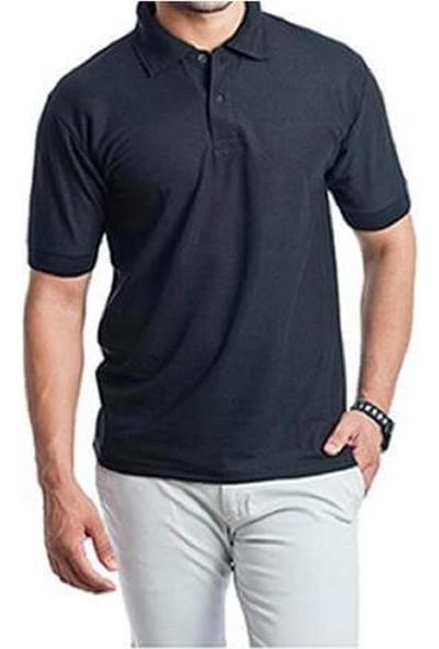 CosyWolf T-Shirt Polo Yaka Pike Kumaş Lacivert