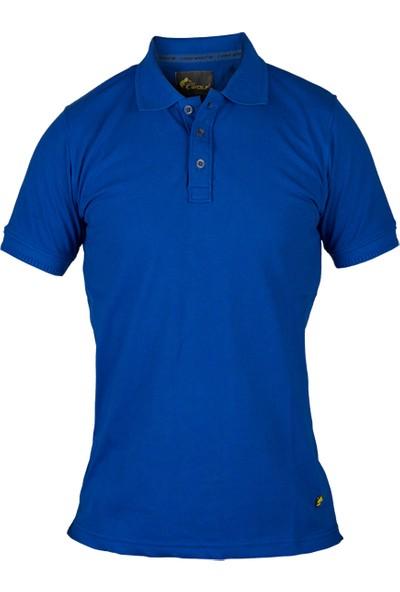CosyWolf T-Shirt Polo Yaka Pike Kumaş Saks