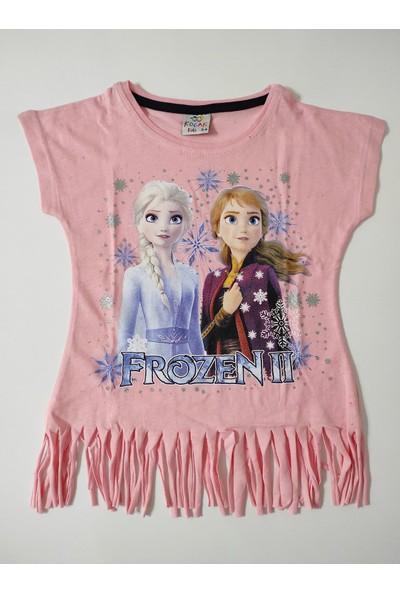 Koçak Kids Elsa Frozen Baskılı Püsküllü Taytlı Ikili Takım 10038