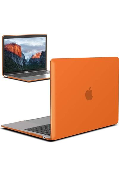 "Codegen Apple 13"" Macbook Air A1466 A1369 Turuncu Kılıf Koruyucu Kapak CMA-133O"