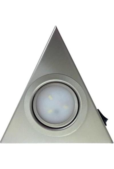 Yiğitled Mutfak Tezgah Dolap Altı Ledli Üçgen Spot 3W LED Beyaz