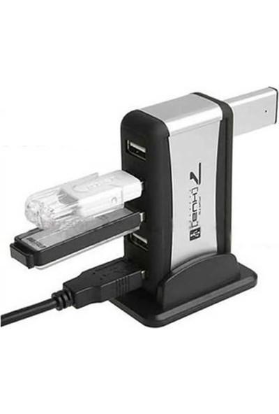 Wozlo 7 Port USB Çoklayıcı USB Hub Çoğaltıcı - Adaptörlü Pc Notebook