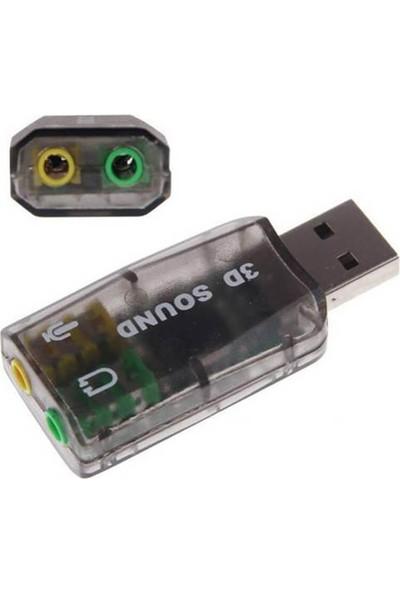 Wozlo 5.1 Sound USB Ses Kartı Virtual 3D Çevirici Dönüştürücü