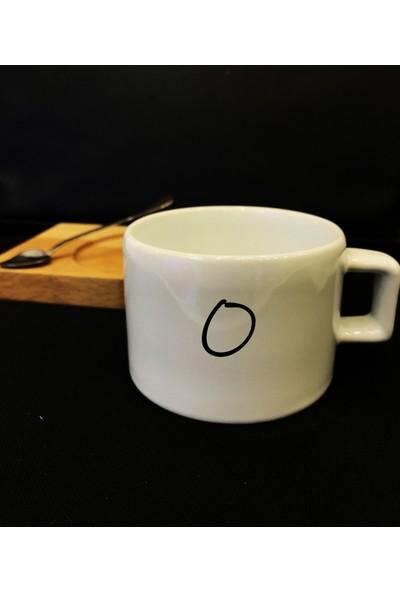 Alsa Tasarım O Harfli Baskılı Nescafe- Espresso Fincanı