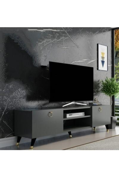 Özbek Sehpa Merce Antrasit Tv SEHPASI(120CM)