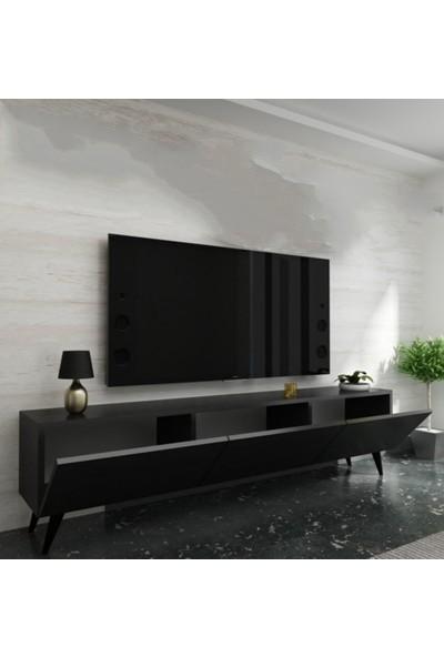 Özbek Sehpa Pera Antrasit Tv SEHPASI(150CM)