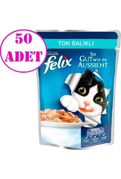 Felix Ton Balıklı Yaş Kedi Maması 100 gr 50 Adet