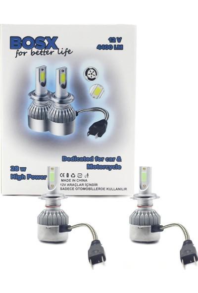 Dekohop Bosx LED Xenon Buz Mavi Yeni Teknoloji 4400 Lm Zenon Far Ampulü H1 / H3 / H4 / H7 / H11 / H27 / 9005 / 9006