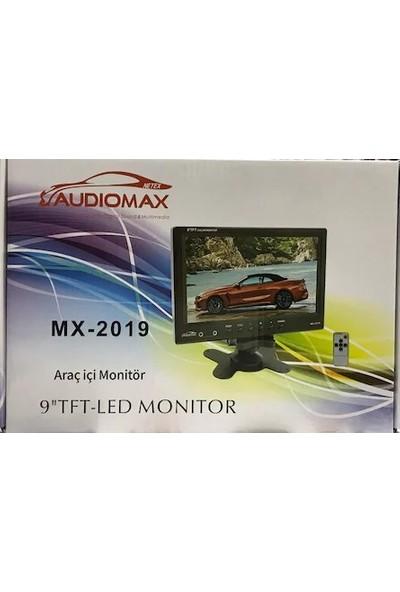"""Audiomax Araç Içi Monitör 9"""" 16:9 Görüntü Tft LCD"""