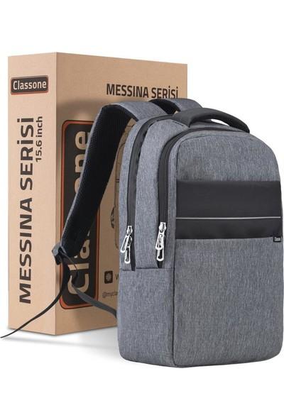 "Classone Messina BP-MS504 15.6"" Laptop Sırt Çantası Gri"