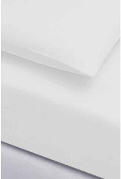 İyi Geceler İstanbul Igi Ranforce Çift Kişilik Fitted Çarşaf Set - 200X200 - Beyaz
