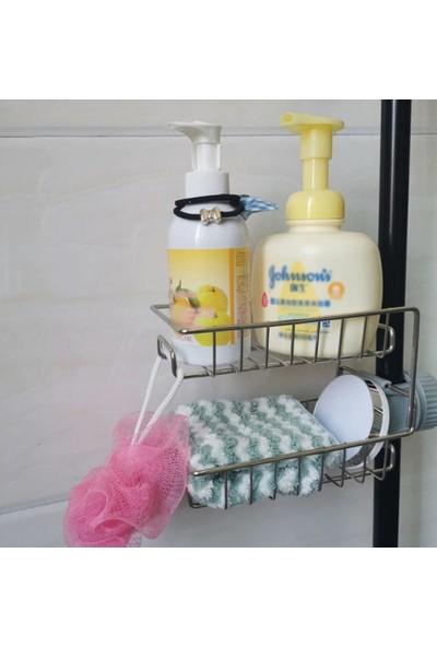 Jetfast Mutfak Banyo Organizer İki Kat Kolay Kurulan Vidasız Demir Raf