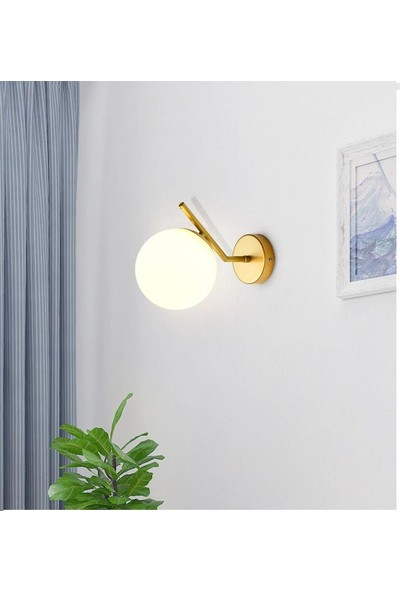 Sinem Avize Soho Modern Gold Boyalı Duvar Lambası Aplik