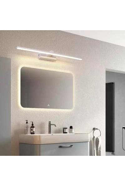 Sinem Avize Beyaz Tablo Ayna Banyo Apliği Günışığı Ledli 60 cm Aplik
