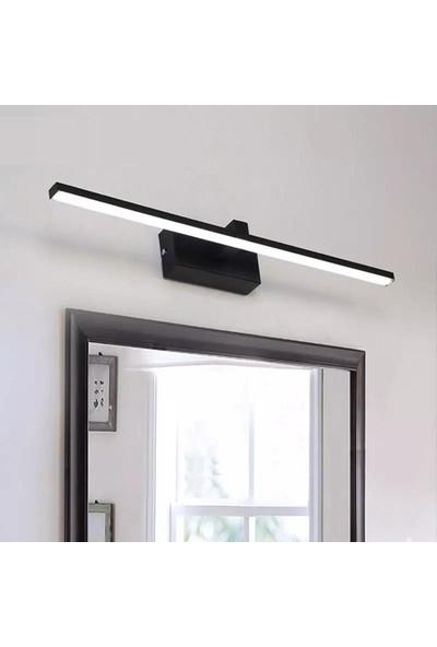 Sinem Avize Lorena Siyah Beyaz Ledli Banyo Duvar Aplik 50 cm