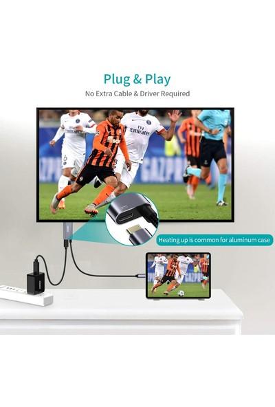 Choetech Type C To 4K@60Hz HDMI 60W Pd Görüntü ve Şarj Kablosu Gri 1.8 Metre XCH-M180