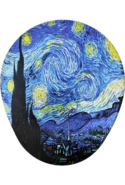 Vizyon Van Gogh Yıldızlı Gece Bilek Destekli Oval Mousepad