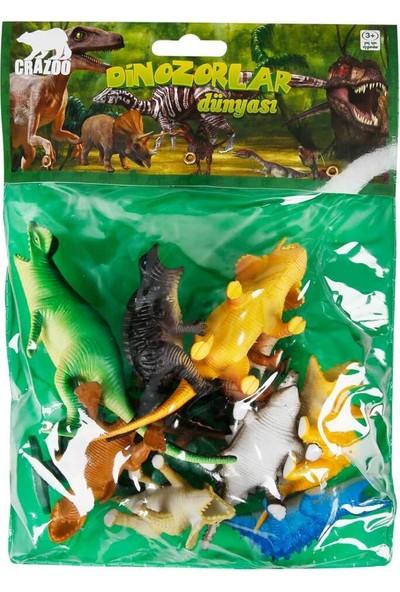 Crazoo Dinozorların Dünyası Poşetli Hayvan Oyun Seti Orta Boy - 2 Numara