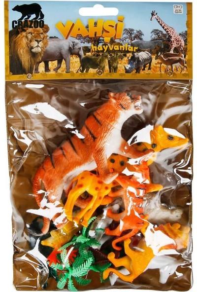 Crazoo Vahşi Hayvanlar Poşetli Hayvan Oyun Seti Orta Boy - Kaplan