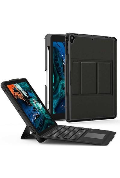 Bizimgross Apple iPad 10.2 7.nesil Wiwu Keyboard Folio Kablosuz Wireless Klavyeli Tablet Kılıfı Siyah