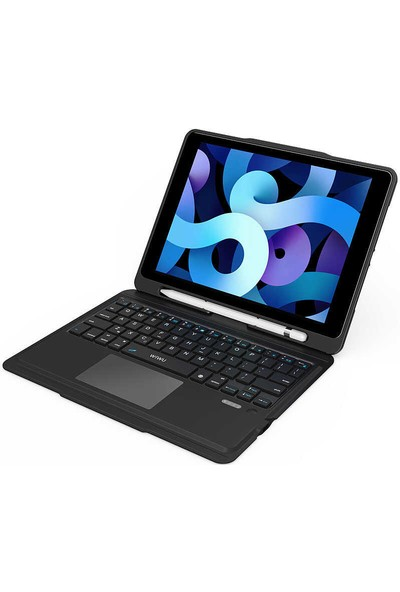 Bizimgross Apple iPad Air 2 9.7 Inç Wiwu Keyboard Folio Kablosuz Wireless Klavyeli Tablet Kılıfı Siyah