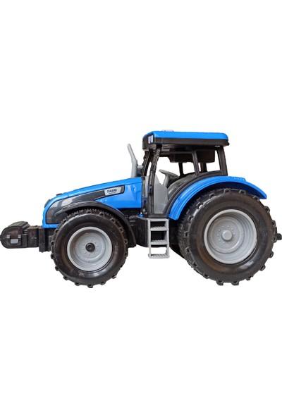 Meva Traktör Işıklı Sesli Sürtmeli Oyuncak Sevimli Mavi Traktör 20CM.