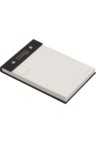 Fabio Ricci La Signora Small Çizgili Notepad Black