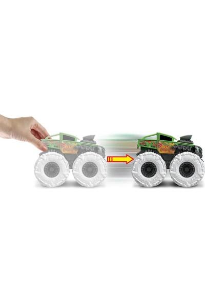 Hot Wheels Monster Trucks Çek Bırak Arabalar GVK37 - Bone Shaker Yeşil